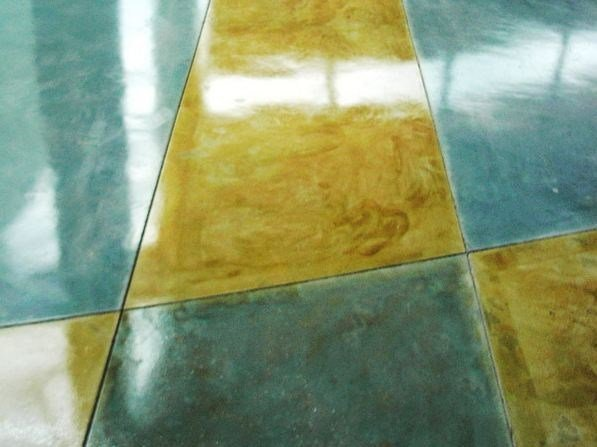 Floor tiles with marble effect ACID STAIN by Stone International