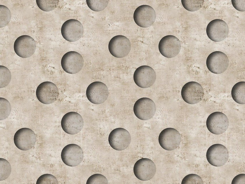 Dotted outdoor wallpaper NEGATIVE by Wall&decò