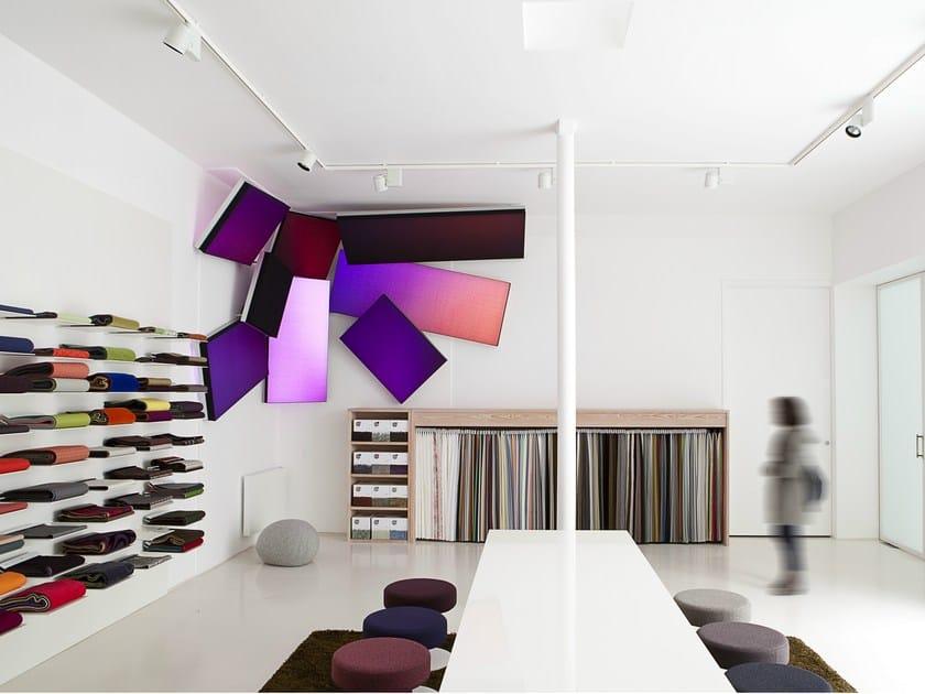 Luminous textile integrates multi-coloured LED Philips luminous textile by Large Luminous Surfaces