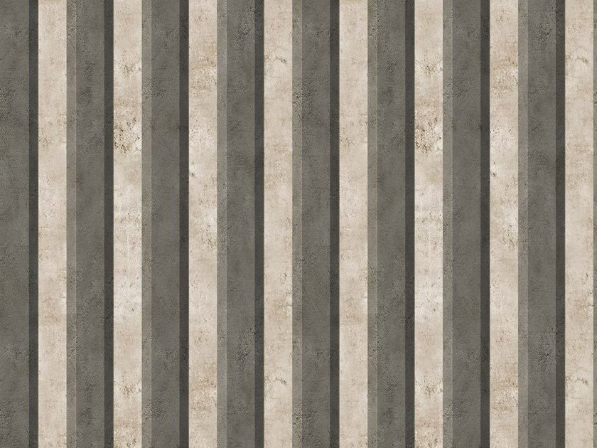 Striped outdoor wallpaper PARALLEL by Wall&decò