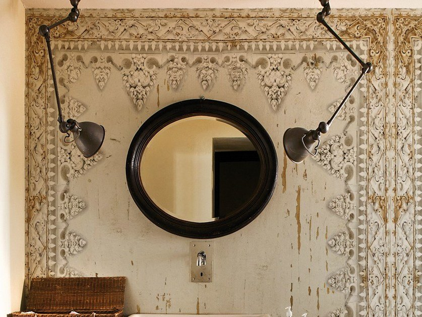 Wall effect bathroom wallpaper DHARMA STYLE by Wall&decò