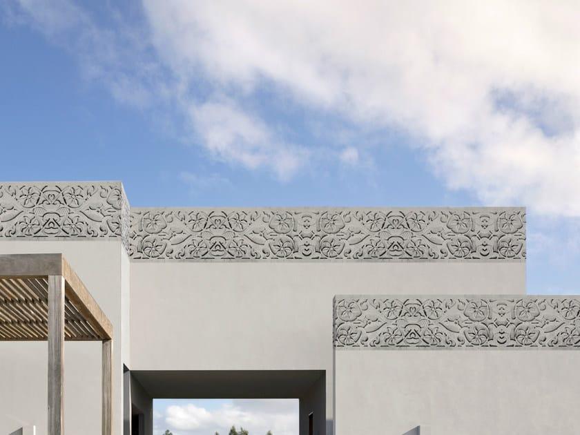 Stone effect outdoor wallpaper HELLENISM by Wall&decò