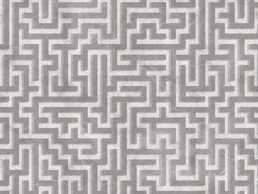 Geometric outdoor wallpaper LABYRINTH by Wall&decò