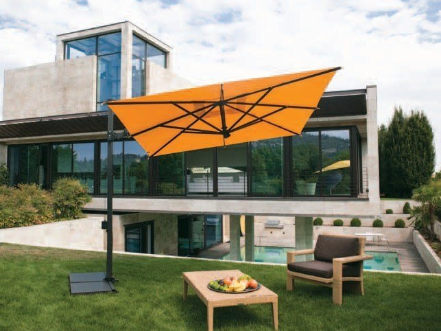 Offset aluminium Garden umbrella GARDA GRAPHITE by FIM