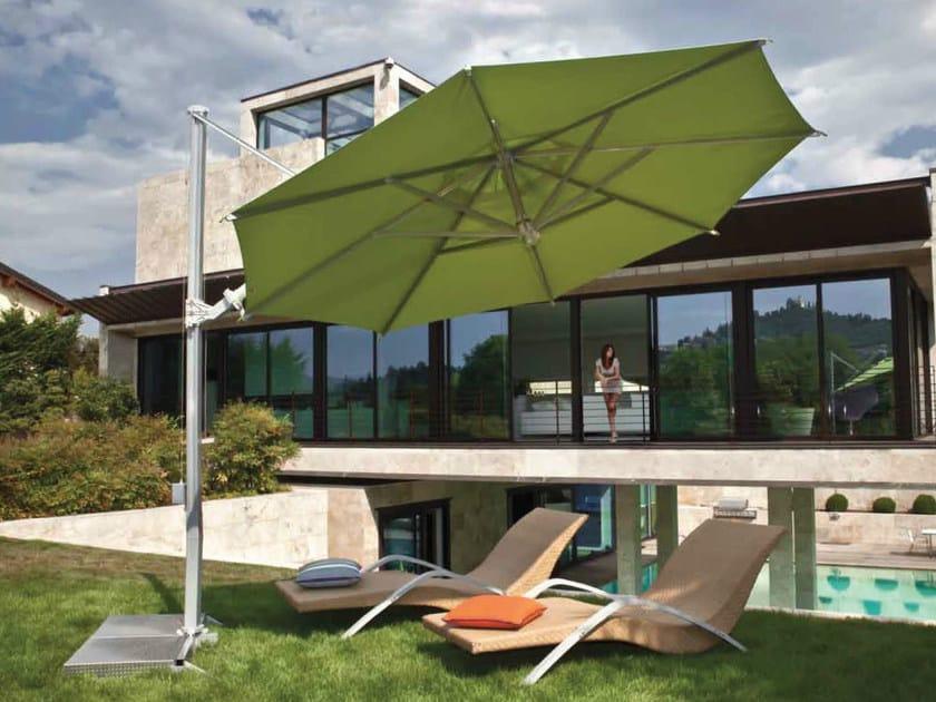 Offset aluminium Garden umbrella GARDA SILVER by FIM