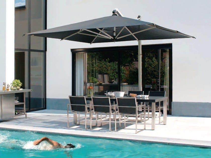 Offset aluminium Garden umbrella RODI SILVER by FIM