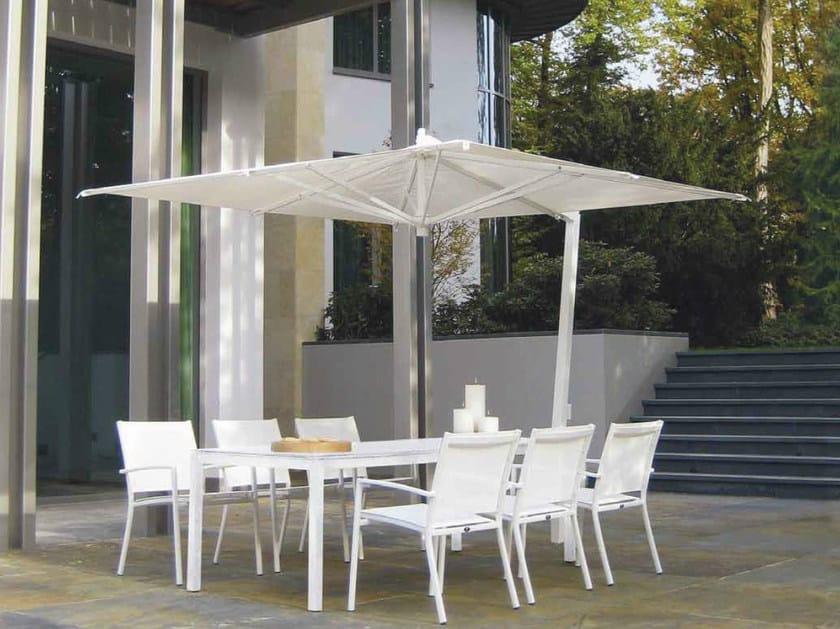 Adjustable aluminium Garden umbrella ISCHIA WHITE by FIM