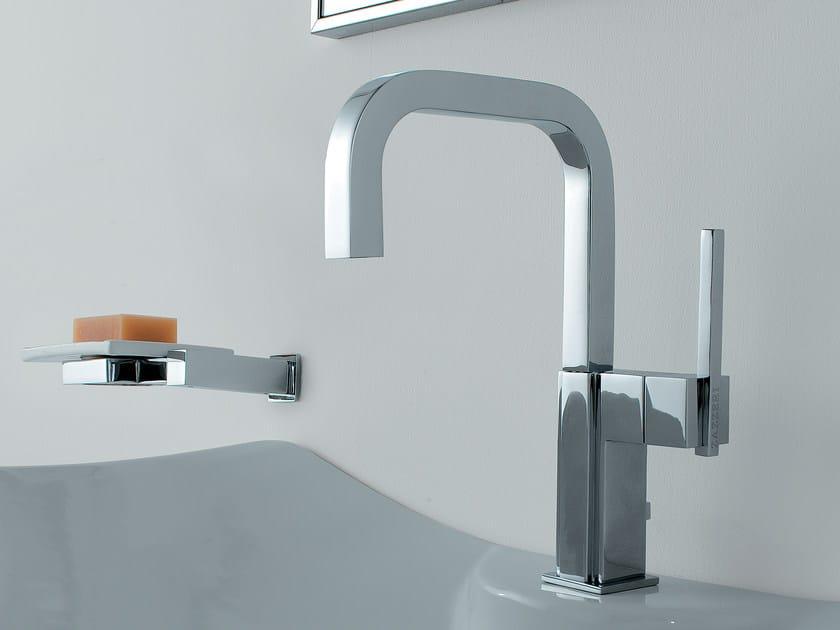 Countertop single handle washbasin mixer SOQQUADRO | Single handle washbasin mixer by ZAZZERI