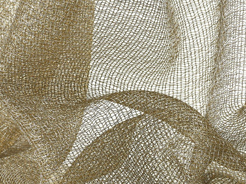Solid-color sheer fabric for curtains LUX by Dedar