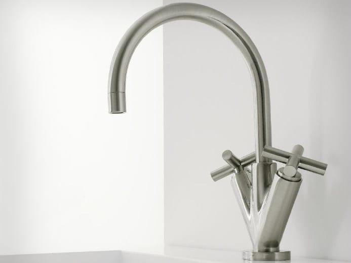 1 hole washbasin tap with individual rosettes DA-DA   1 hole washbasin tap by ZAZZERI