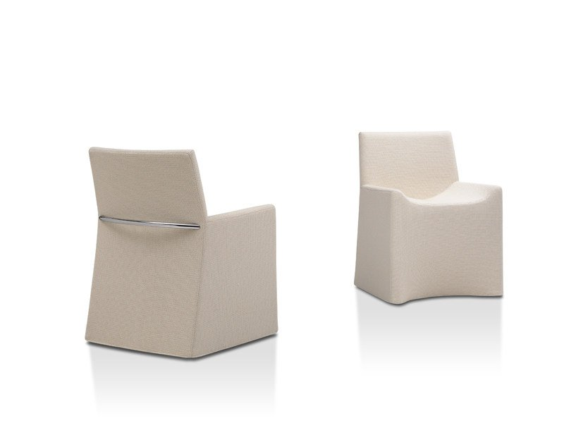 Upholstered fabric chair SOFT CHAIR by Porro