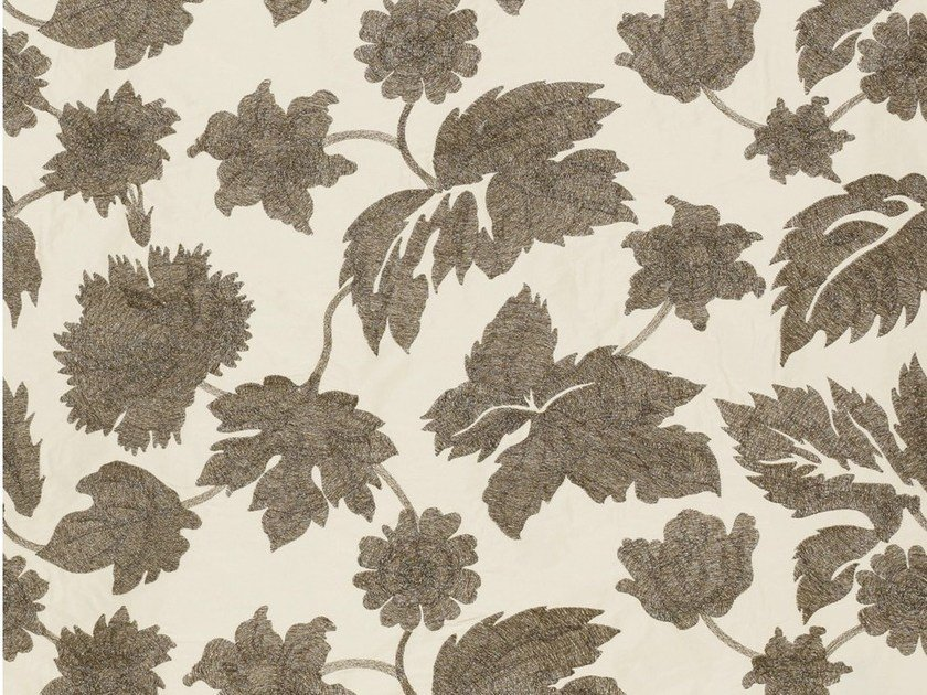 Fabric with floral pattern for curtains AVALON by Dedar