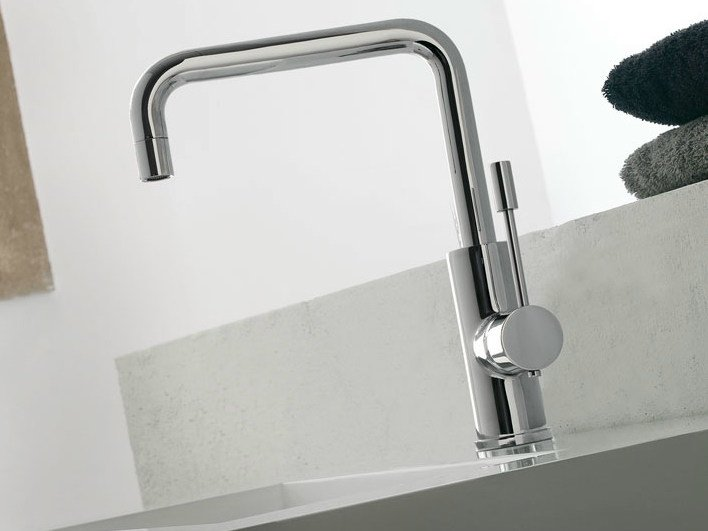 Single handle washbasin mixer with adjustable spout MODO | Washbasin mixer with adjustable spout by ZAZZERI