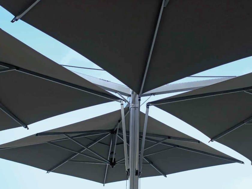 Square aluminium Garden umbrella QUADRUPLO by FIM