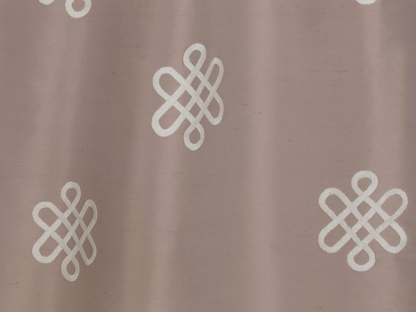 Silk fabric with graphic pattern for curtains ANTOINETTE by Dedar