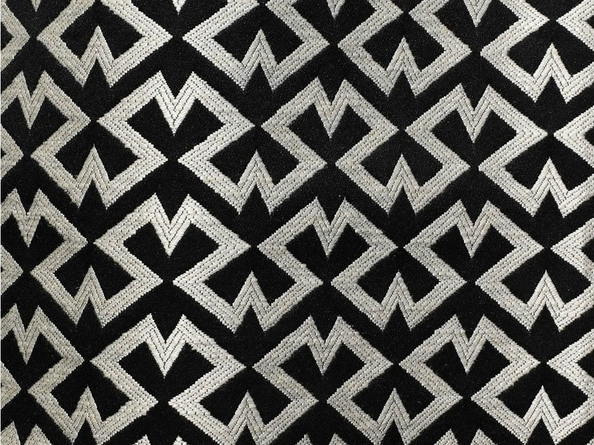 Upholstery fabric with graphic pattern for curtains ZIGGY by Dedar