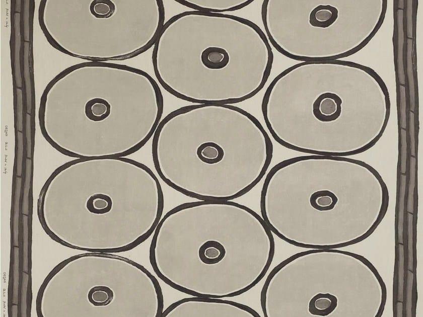 Multi-colored jute fabric with graphic pattern OB-LA-DI by Dedar