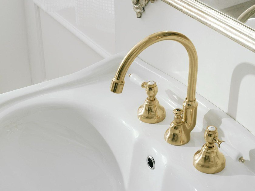 Classic style 3 hole washbasin tap 800 | 3 hole washbasin tap by ZAZZERI