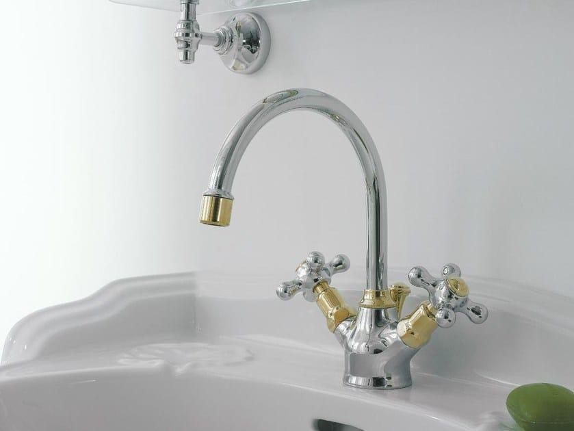 Classic style washbasin tap 800 | 1 hole washbasin tap by ZAZZERI