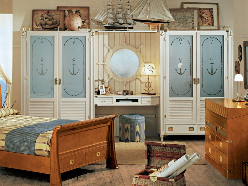 Sectional lacquered bridge wardrobe GOLDLINE | Wardrobe by Caroti