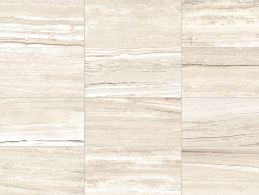 Pavimento/rivestimento in gres porcellanato effetto marmo per interni ed esterni STONE MIX Striato White by Italgraniti