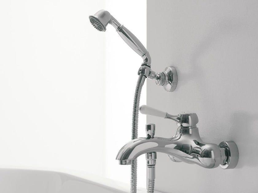 Wall-mounted bathtub mixer with hand shower 900   Bathtub mixer by ZAZZERI