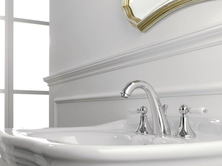 3 hole washbasin tap with individual rosettes MILLE | 3 hole washbasin tap by ZAZZERI
