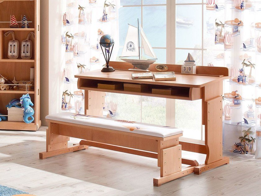 Rectangular wooden Kids writing desk 857 | STEP BY STEP by Caroti