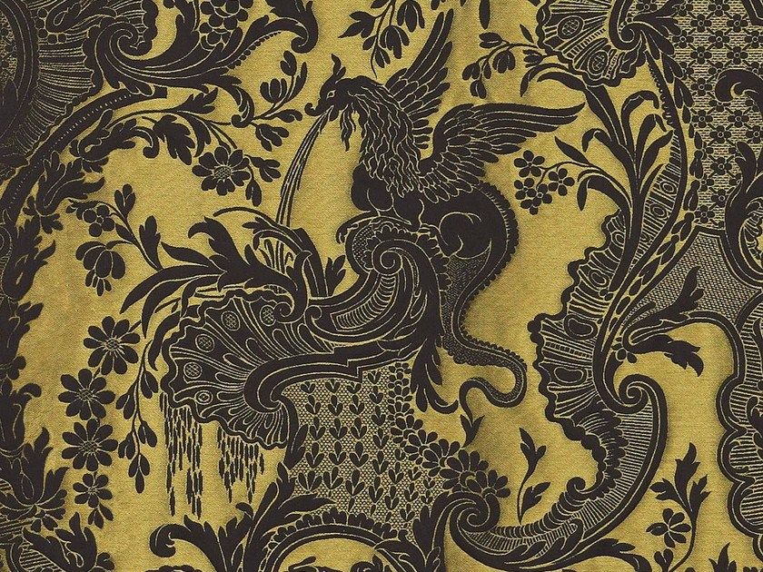 Fabric with graphic pattern for curtains DRAGONE by Dedar