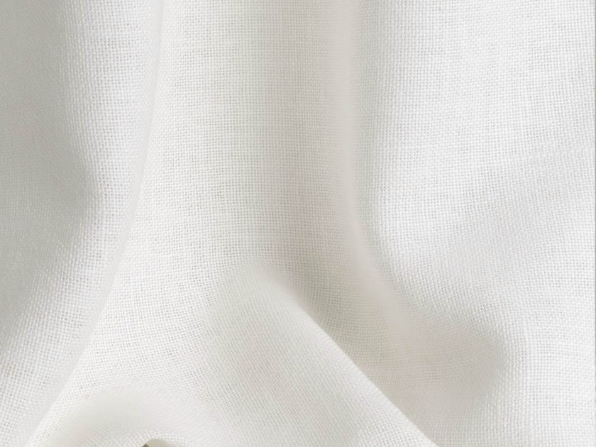 Solid-color linen fabric for curtains ALEPH by Dedar