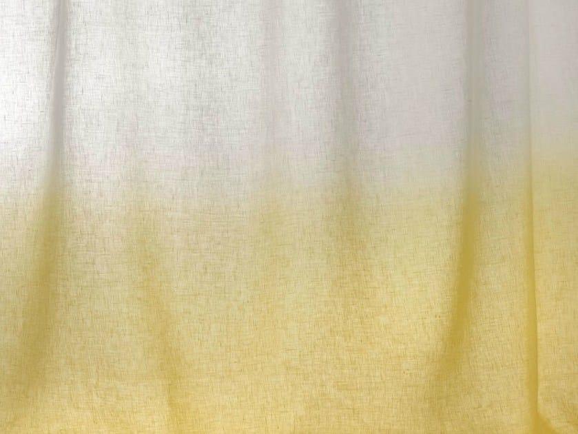 Sheer linen fabric for curtains HORIZON by Dedar