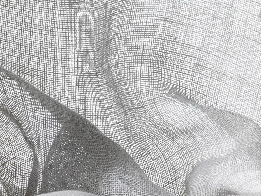 Solid-color washable linen fabric for curtains BELES by Dedar