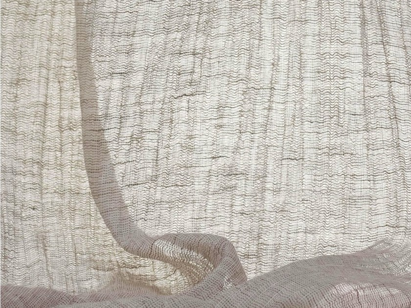 Solid-color washable fabric for curtains GRI-GRI by Dedar