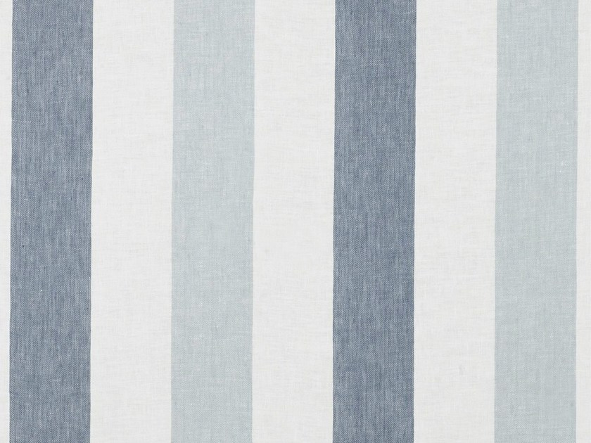 Striped washable linen fabric for curtains ZEPHYR by Dedar