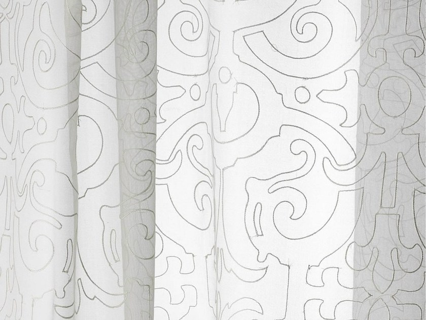 Sheer silk fabric with graphic pattern for curtains FINISSIMO by Dedar