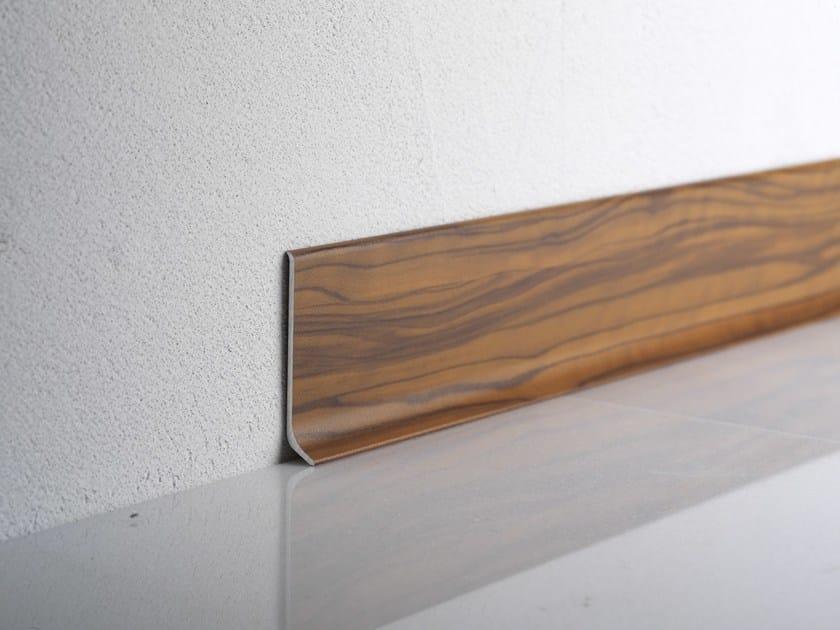 Battiscopa in alluminio effetto legno teak BA 600