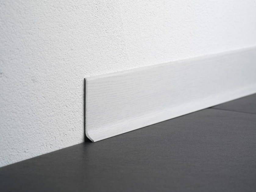 BA 600 | Battiscopa Battiscopa in alluminio effetto legno rovere sbiancato BA 600