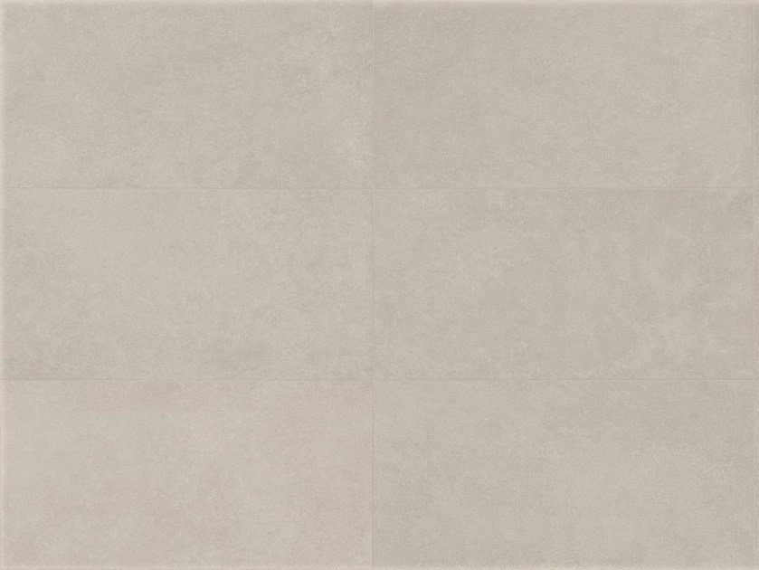 Indoor/outdoor porcelain stoneware wall/floor tiles with concrete effect MATERIA D Bianco by Italgraniti