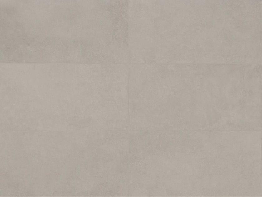 Indoor/outdoor porcelain stoneware wall/floor tiles with concrete effect MATERIA D Tortora by Italgraniti