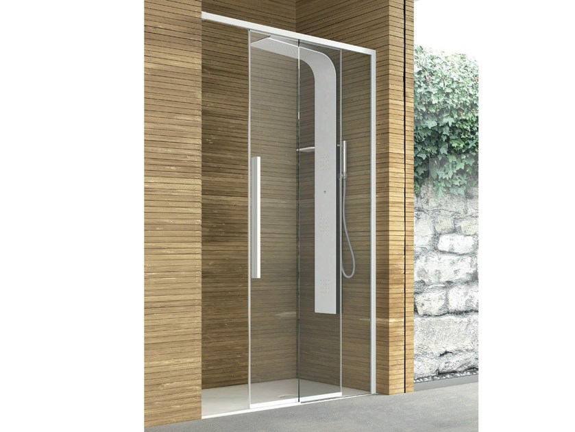 Crystal shower cabin with sliding door TOP | Crystal shower cabin by Gruppo Geromin