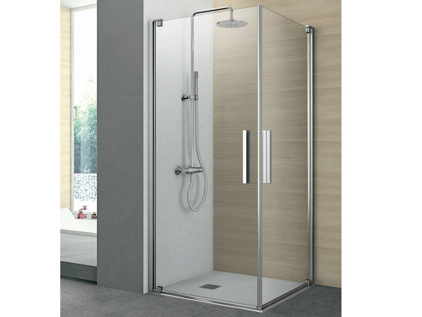 Shower cabin with 2 pivot doors PIVOT | Shower cabin by Gruppo Geromin