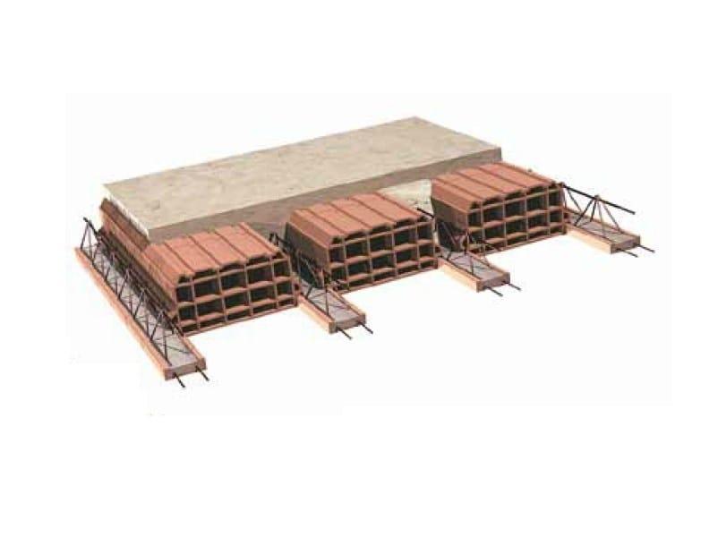 Lattice joist for reinforced concrete floor slab Hollow clay floor slab block by SIAI