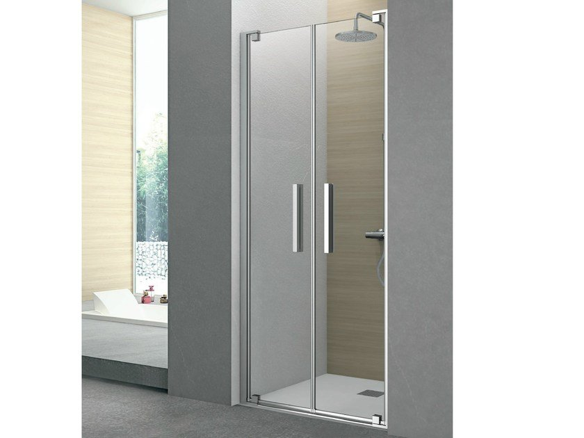 Cabin shower with 2 pivot doors PIVOT | Crystal shower cabin by Gruppo Geromin