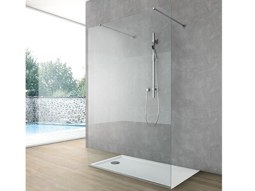 Crystal shower wall panel SIDE 1 by Gruppo Geromin