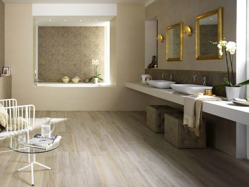 Pavimento rivestimento in gres porcellanato effetto legno per interni ed esterni listone d - Rivestimento bagno effetto legno ...