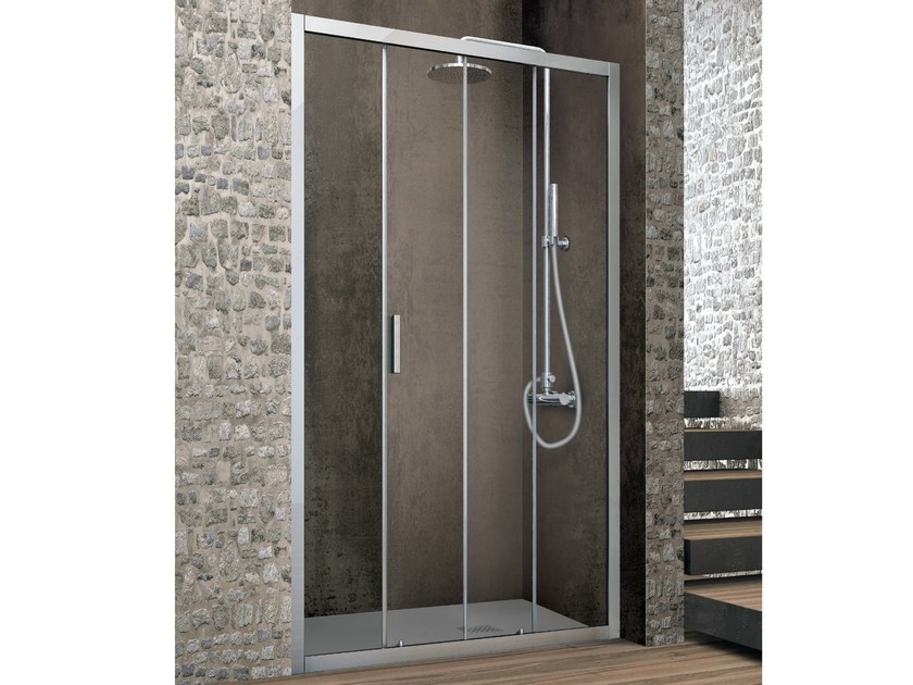 Niche crystal shower cabin with sliding door ASTER-T | Niche shower cabin by Gruppo Geromin