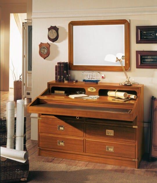 Wooden chest of drawers / Kids writing desk GOLDLINE | Pull-down Kids writing desk by Caroti