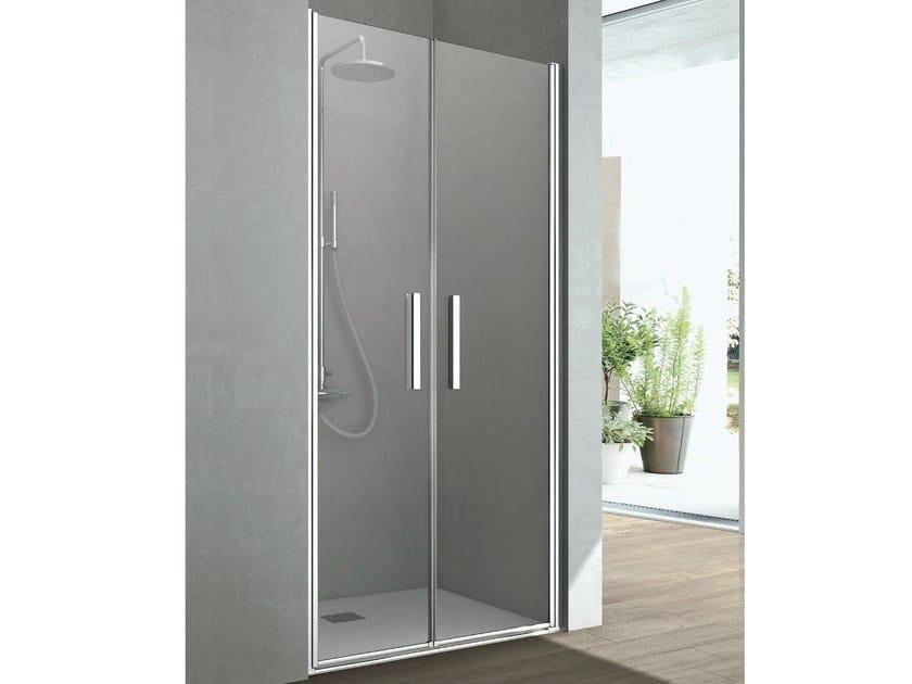 Shower cabin with 2 saloon shutter doors LINE | Niche shower cabin by Gruppo Geromin