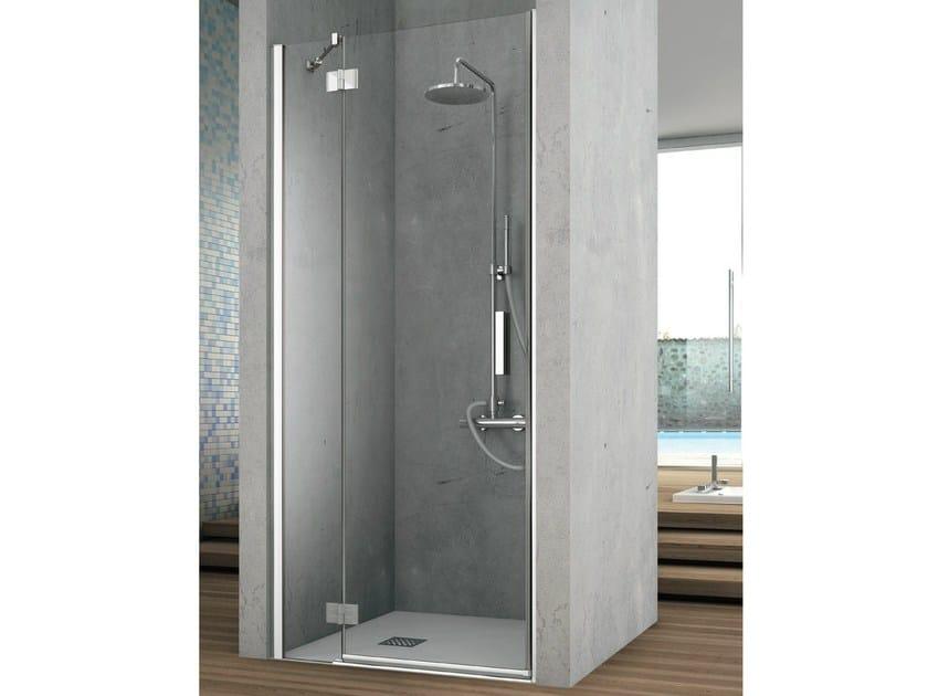 Crystal shower cabin with shutter door ELEMENT | Niche shower cabin by Gruppo Geromin
