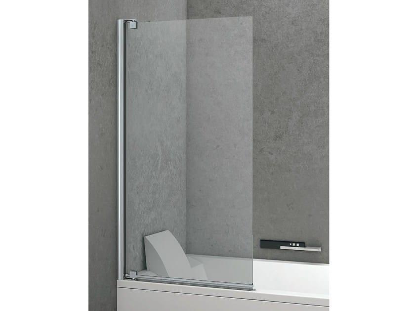 Folding crystal bathtub wall panel PIVOT   Bathtub wall panel by Gruppo Geromin